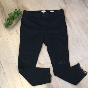 eb1a5561685 William Rast Jeans - William Rast trendy plus size black ripped jeans